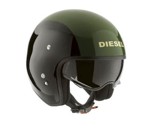 Agv Casco Moto Vintage Hi Jack Diesel Nero Verde