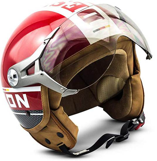 Casco Vintage Demi Jet Rosso Soxon Sp 325 Plus Red 1