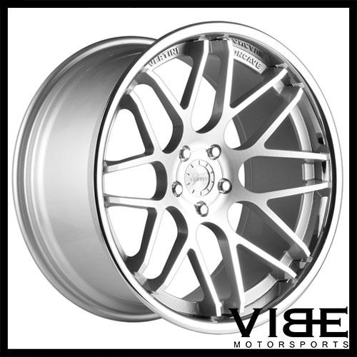 22 Vertini Magic Silver Concave Wheels Rims Fits Cadillac Cts V