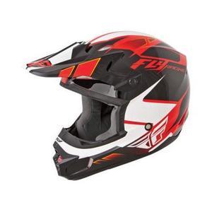 Fly Racing 73-4732 Visor for Kinetic Impulse Helmet - Red/Black/White