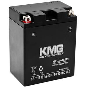 KMG YTX14AH-BS Sealed Maintenace Free Battery High Performance 12V SMF OEM Replacement Maintenance Free Powersport Motorcycle ATV Scooter