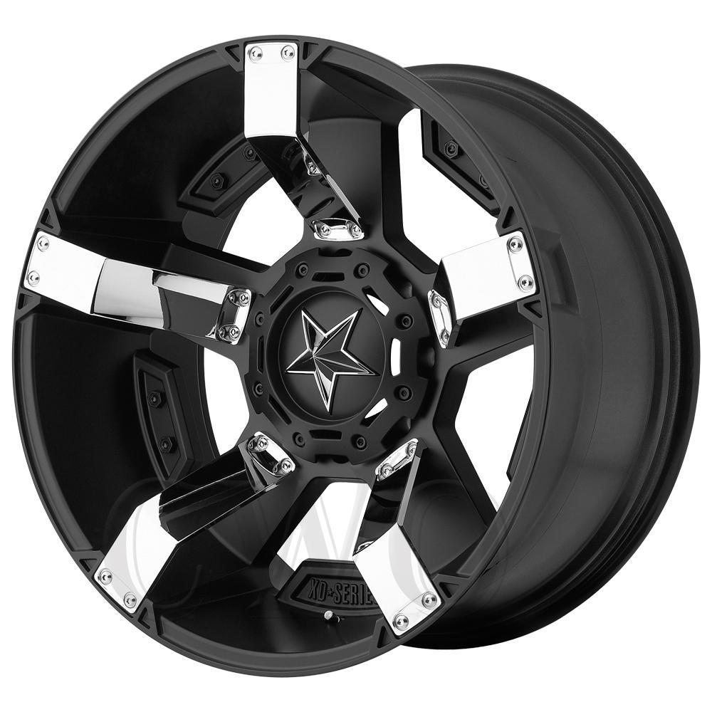 "XD811 Rockstar 2 20x9 6x120/6x5.5"" +18mm Black/Chrome Wheel Rim 20"" Inch"