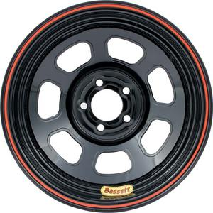 BASSETT Black Steel 14 x 7 in D-Hole Lightweight Wheel P/N 47SN2