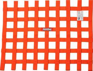 RACEQUIP 18 x 24 in Rectangle Orange Window Net P/N 725045
