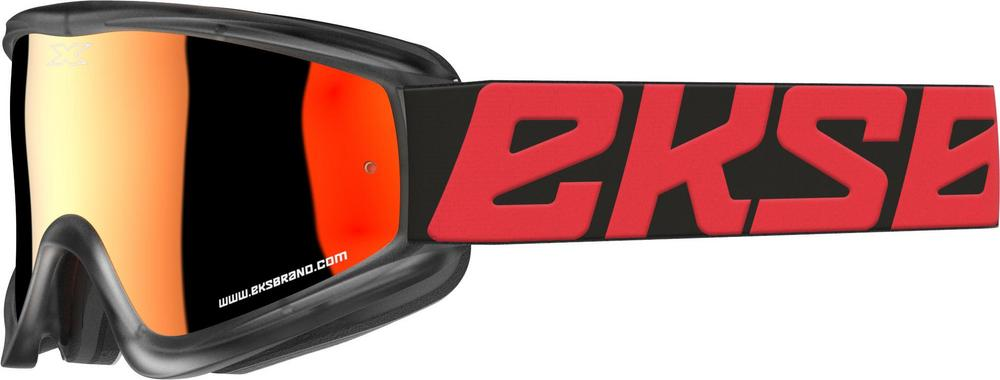 EKS Brand Flat Out Goggles Red/Black (Black, OSFM)