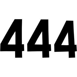N-Style N-4B Pros Stick-On Number - 8in. - No.4 - Black