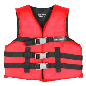 Airhead Open Sided Youth PFD (Red, 50-90 Lbs.)