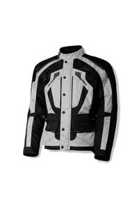 Olympia Mens Dual Sport Motorcycle Richmond Waterproof Jacket Silver XL
