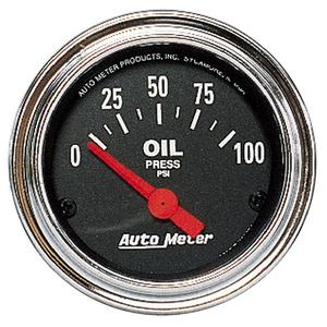 AutoMeter 2522 Traditional Chrome Electric Oil Pressure Gauge