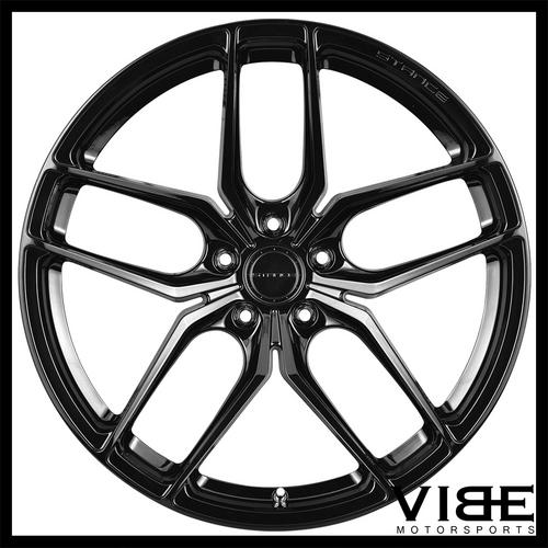 "19"" STANCE SF03 GLOSS BLACK CONCAVE WHEELS RIMS FITS CHEVROLET CAMARO LS LT SS"