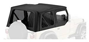 Bestop Sailcloth Replace A Top 97-02 Jeep Wrangler TJ Clear Windows Black Crush