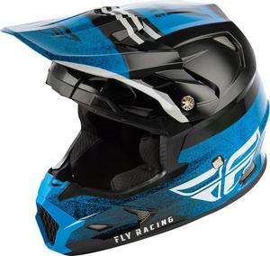 Fly Racing Toxin MIPS Embargo Youth Helmet Black/Blue (Blue, Medium)