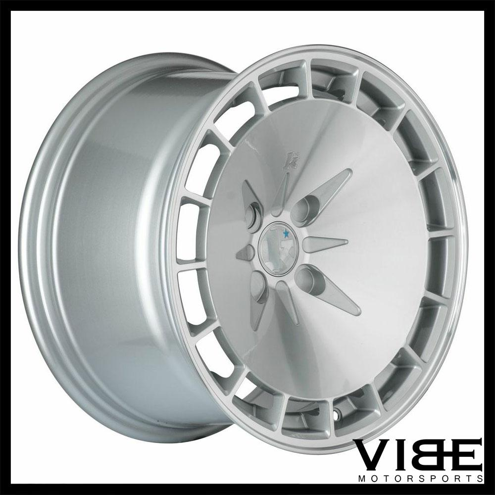 "15"" KLUTCH KM16 15X8.5 4X100 ET17 SILVER CONCAVE WHEELS RIMS FITS ACURA INTEGRA"