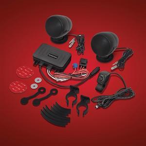 Big Bike Parts Bluetooth Waterproof Motorcycle Stereo Sound System 13-252BTBK
