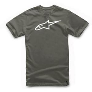 Alpinestars Ageless T-Shirt Military/White (Gray, Medium)