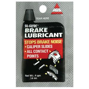 AGS Sil-Glyde Brake Lubricant, Single-Use 4g pouches, pack of 25 (BK-1-25)