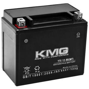 KMG YTX12-BS Sealed Maintenace Free Battery High Performance 12V SMF OEM Replacement Maintenance Free Powersport Motorcycle ATV Scooter