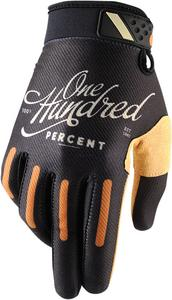 100% Ridefit Gloves (Pair) Classic Black Adult Size MD