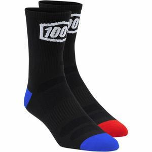 100% Terrain Socks (Black, Small - Medium 6-9)