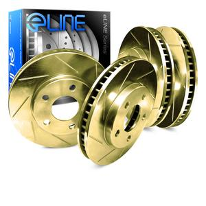 [FRONT+REAR] ELINE Gold Edition Slotted  Brake ROTORS DISC CGS.61047.01
