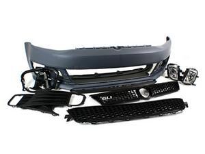 VW JETTA MK6 SEDAN GLI STYLE FRONT BUMPER CONVERSION KIT W/ BLACK GRILLES