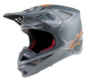 Alpinestars Supertech S-M10 Meta Helmet Anthracite/Gray/Orange Fluo (Gray, X-Large)