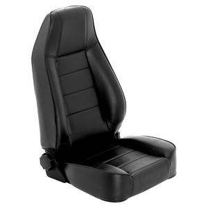 Smittybilt 45001 Factory Style Replacement Seat Black No Drilling Front