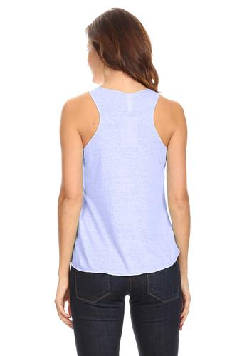 Women's Ultralight Tri Blend Tank Top.DENIM.S