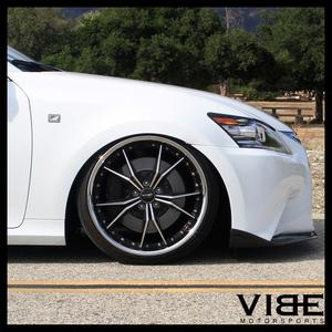 "19"" VERTINI DARK KNIGHT MACHINED DEEP LIP WHEELS RIMS FITS HONDA ACCORD COUPE"