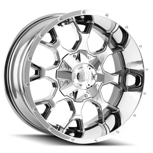 "Mayhem 8015 Warrior 20x10 5x5""/5x5.5"" -25mm Chrome Wheel Rim 20"" Inch"