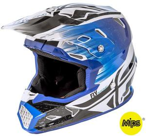 Fly Racing Toxin Resin Youth Helmet Black/Blue (Blue, Medium)