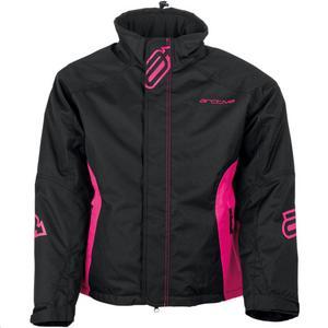 Arctiva Pivoted Insulated Womens Jacket Black/Pink (Black, XX-Large)