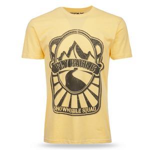 Fly Racing Adult Snowmobile Squad T-Shirt Yellow Tee Shirt 3XL XXXL