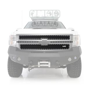 Smittybilt 615820 M1 Grille Insert For 07-10 Silverado 2500 HD Black Mesh 2 pcs.