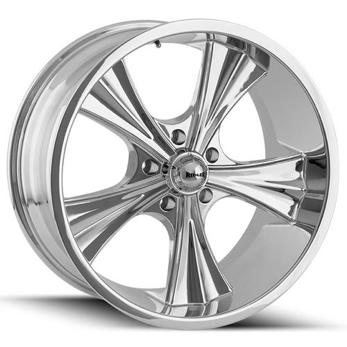 "Ridler 651 18x8 5x4.5"" +0mm Chrome Wheel Rim 18"" Inch"