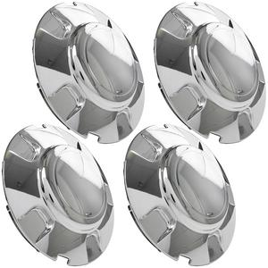 4pc Chrome Wheel Center Caps Wheel Hub Cap Lug Nut Covers for 1997-2003 Ford Expedition 5 Twin Spoke