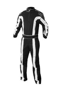 K1 RACEGEAR 20-TR2-NW-2XS Suit Triumph 2 Black XX-Small SFI 1