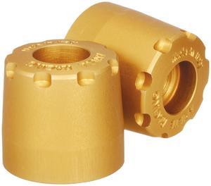 Ariete 12997/U3-O Alu-Rub Bar Ends - 17-20mm - Gold