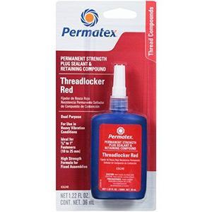 Permanent Strength Threadlocker, Red, 36 ml. bottle (26240)
