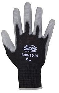 SAS Safety 640-1013 Pawz Polyurethane Coated Palm Glove, Large
