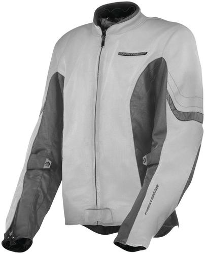 Firstgear Contour Air Womens Jacket Silver (Gray, X-Small)