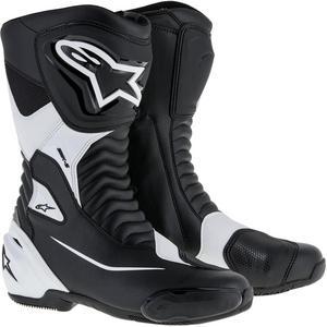 Alpinestars SMX S Boots Black/White (Black, 4)
