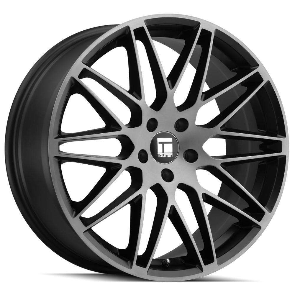 "Touren TR75 18x8 5x120 +40mm Black/Brushed/Tint Wheel Rim 18"" Inch"