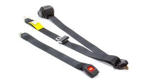 BEAMS SEATBELTS Black Retractable Lap/Shoulder Seat Belt P/N 201-10