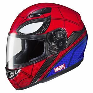 HJC CS-R3 Marvel Homecoming Spiderman Helmet Red (MC-1) (Red, XX-Large)