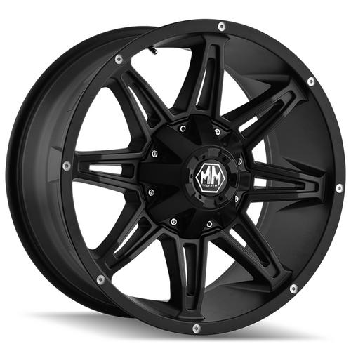 "Mayhem 8090 Rampage 17x9 8x180 +18mm Matte Black Wheel Rim 17"" Inch"