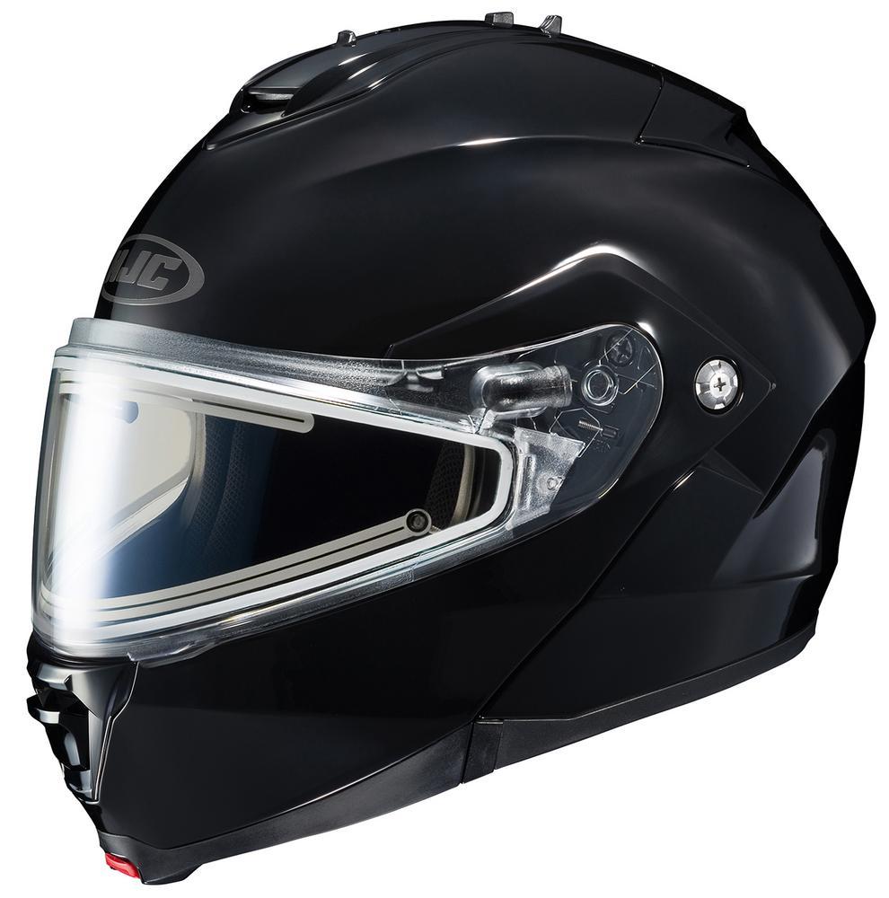 HJC IS-Max II Solid Snow Helmet with Electric Shield (Black, Medium)