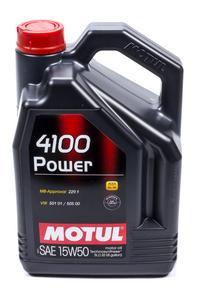 MOTUL USA 15W50 Synthetic 4100 Power Motor Oil 5 L P/N 100273