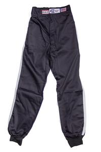RJS SAFETY 3X-Large Black Single Layer Driving Pants P/N 200020108