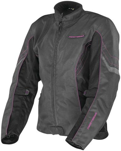 Firstgear Contour Womens Jacket Charcoal/Black/Pink (Gray, XX-Large)